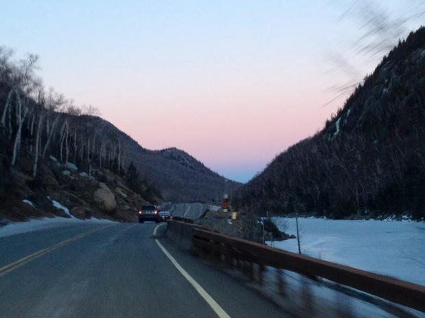Leaving Lake Placid, NY
