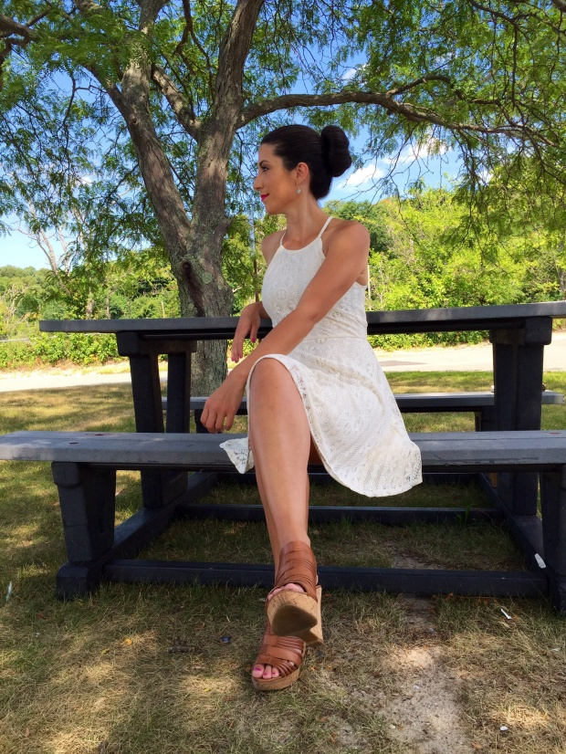 Mossimo White Lace Dress