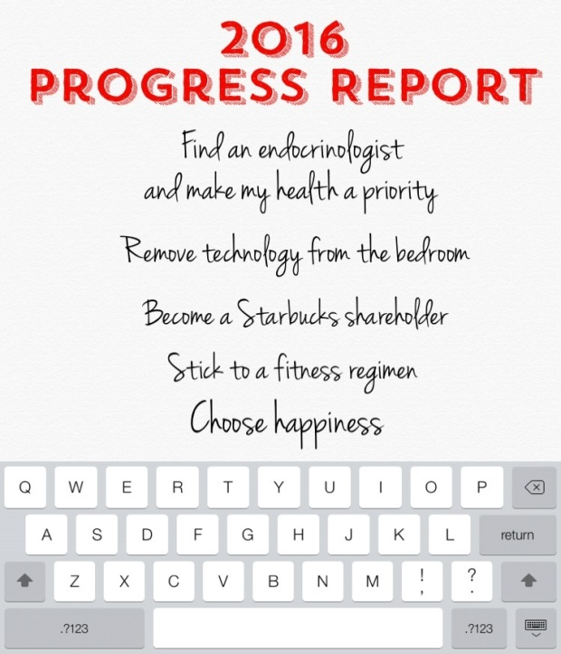 Progress Report:  2016 Goals