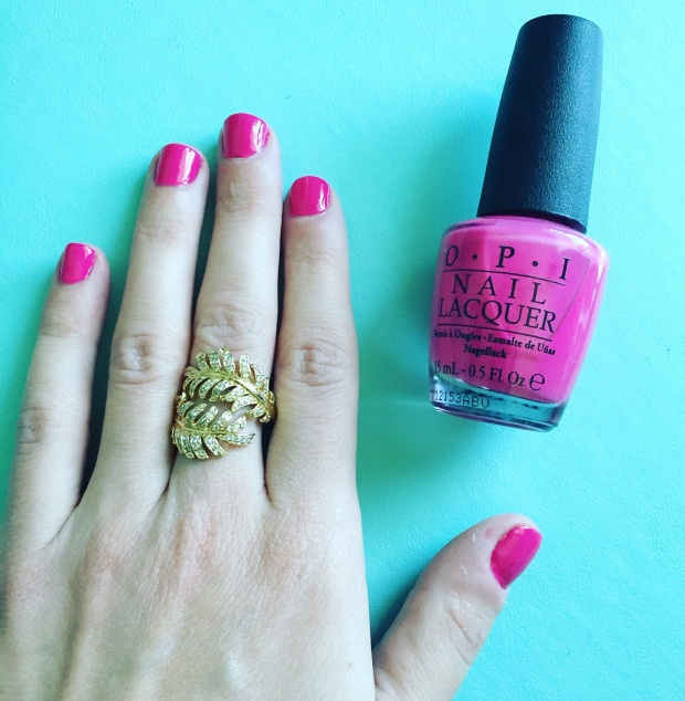 Spring mani with OPI