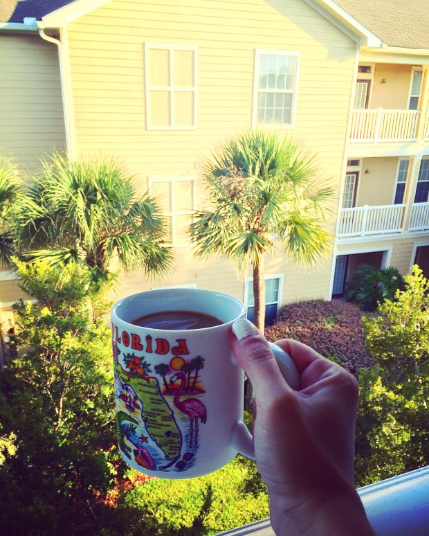 Morning coffee on the balcony