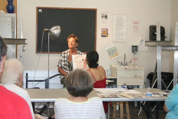 A Watercolor Portrait Demonstration at a Past Open House