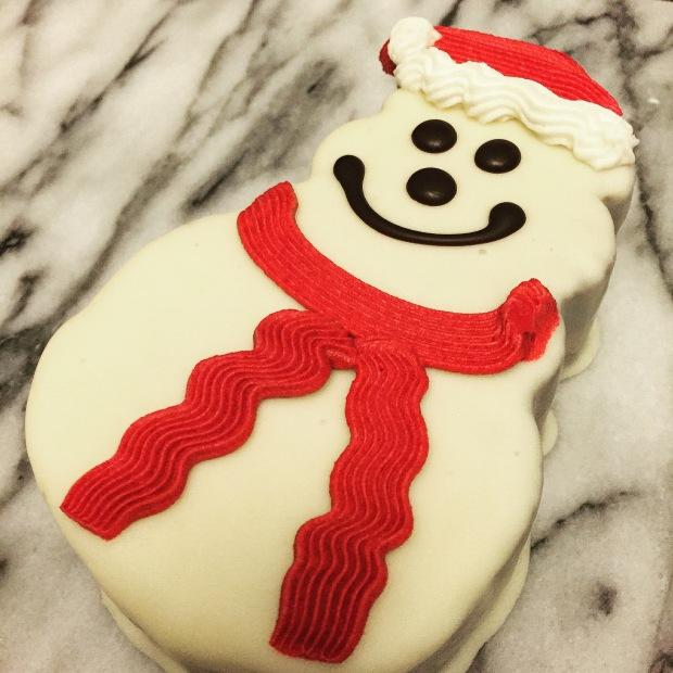 Trader Joe's Snowman Cake